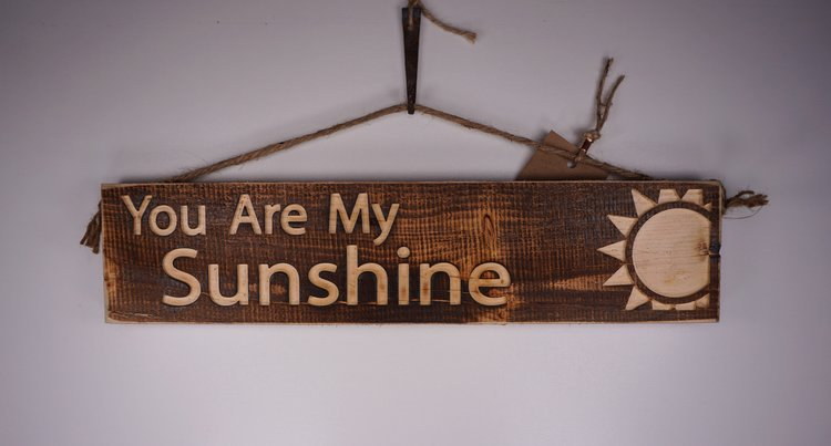 "Wooden Decorative Signs - 16"" (You are my Sunshine)"