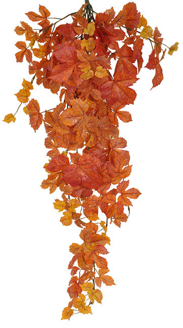 "FAll LEAVES MAPLE IVY 39"" - ORANGE"