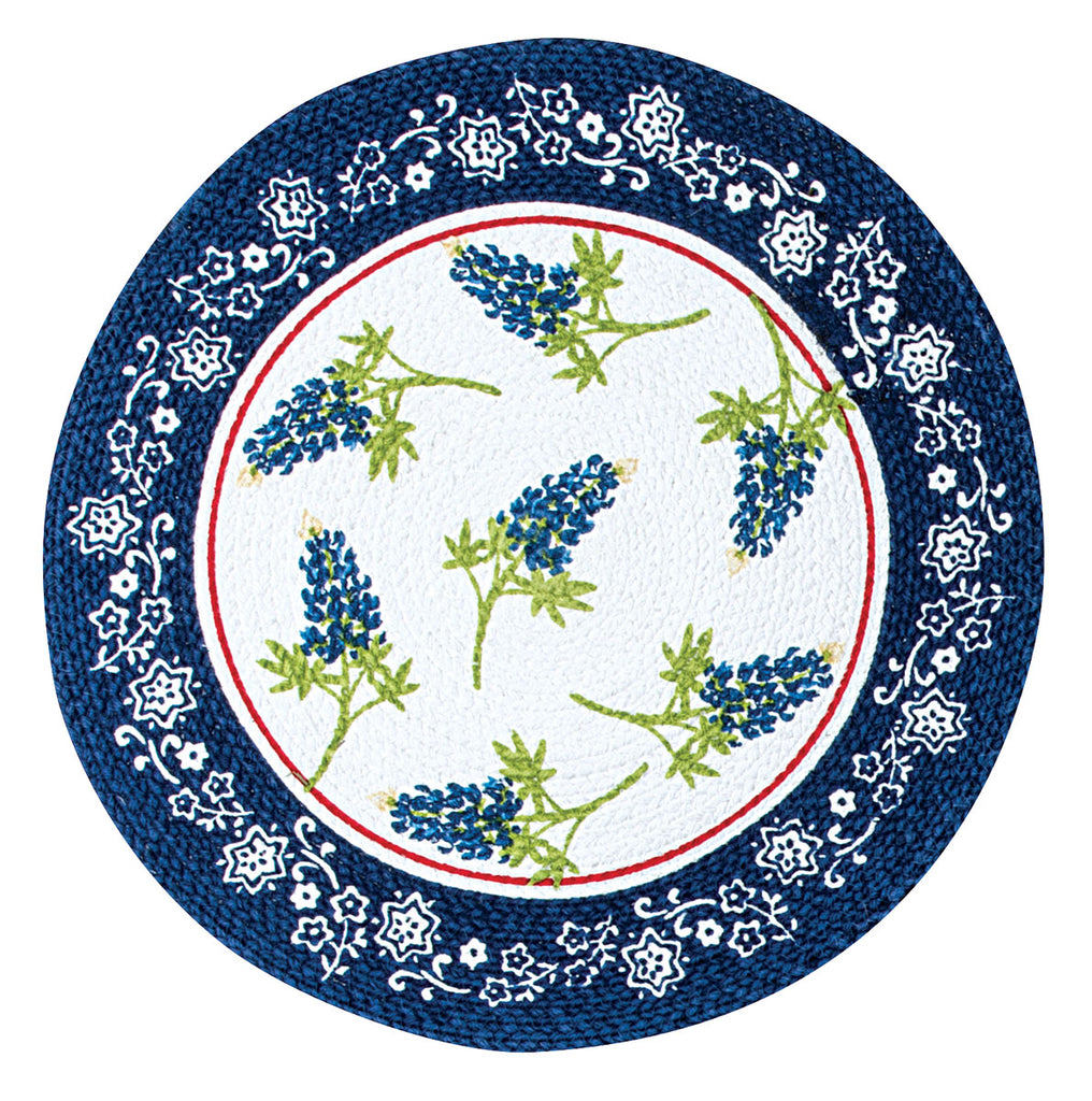 Home Sweet Texas Bluebonnets Braided Placemat