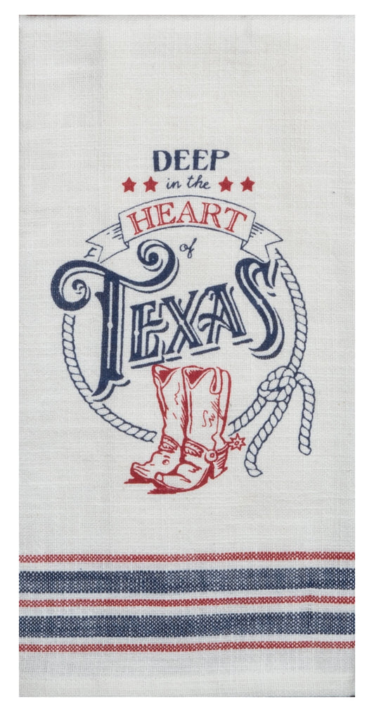Texas Pride Deep in the Heart Tea Towel