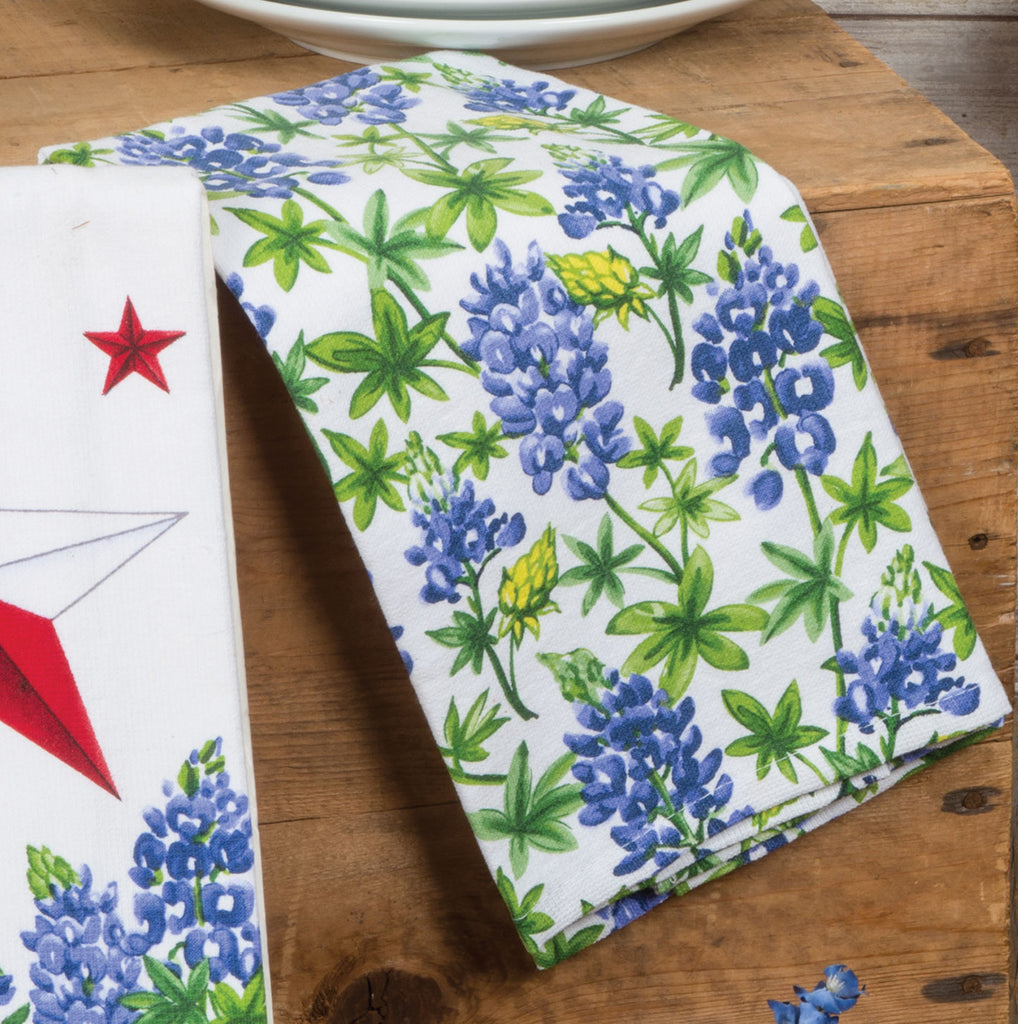 Texas Star Bluebonnets Dual Purpose Terry Towel