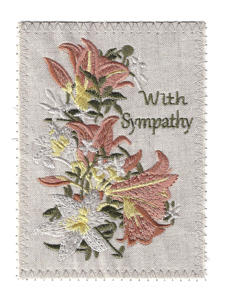 Sympathy Greeting Cards - Embroidery