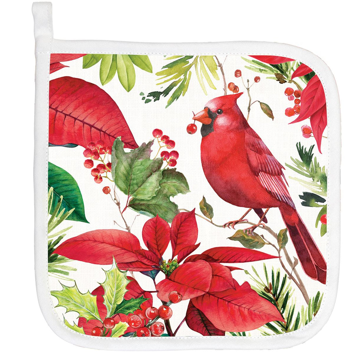 Christmas Poinsettia Potholder