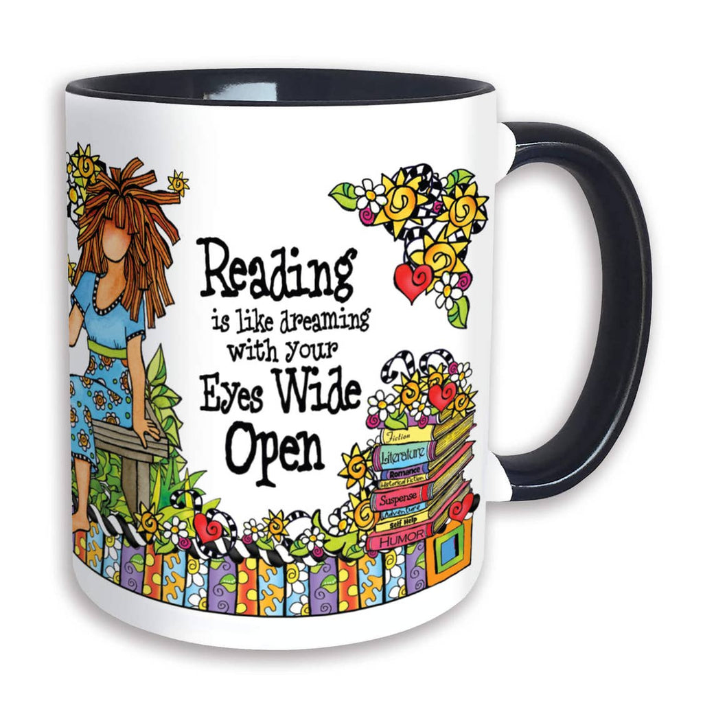 Suzy Toronto Mug - Reading is like dreaming with your eyes wide open
