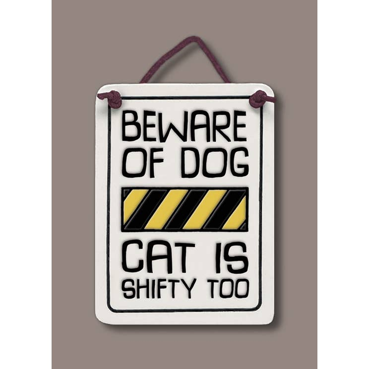 Beware of Dog Wall Art Wall Art Tile