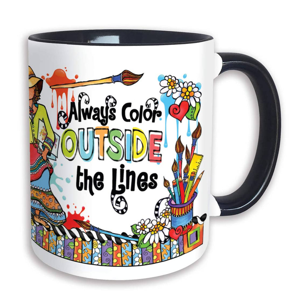 Suzy Toronto Mug  Always Color outside the LInes