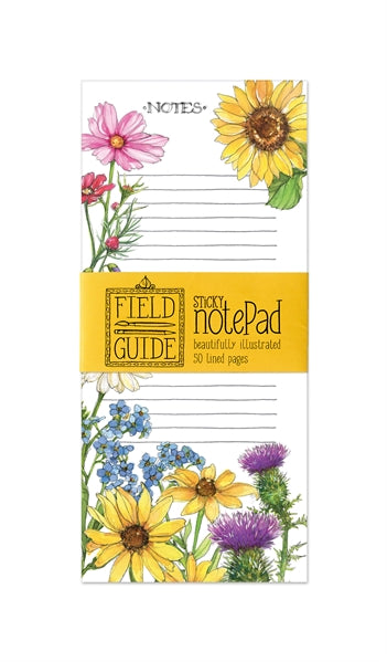 Wildflower Sticky Note Pad