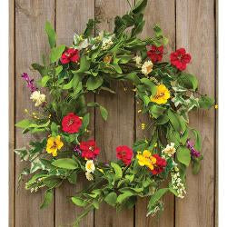 Mixed Prairie Daisy Wreath