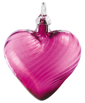 Purple Twist Classic Heart Ornament