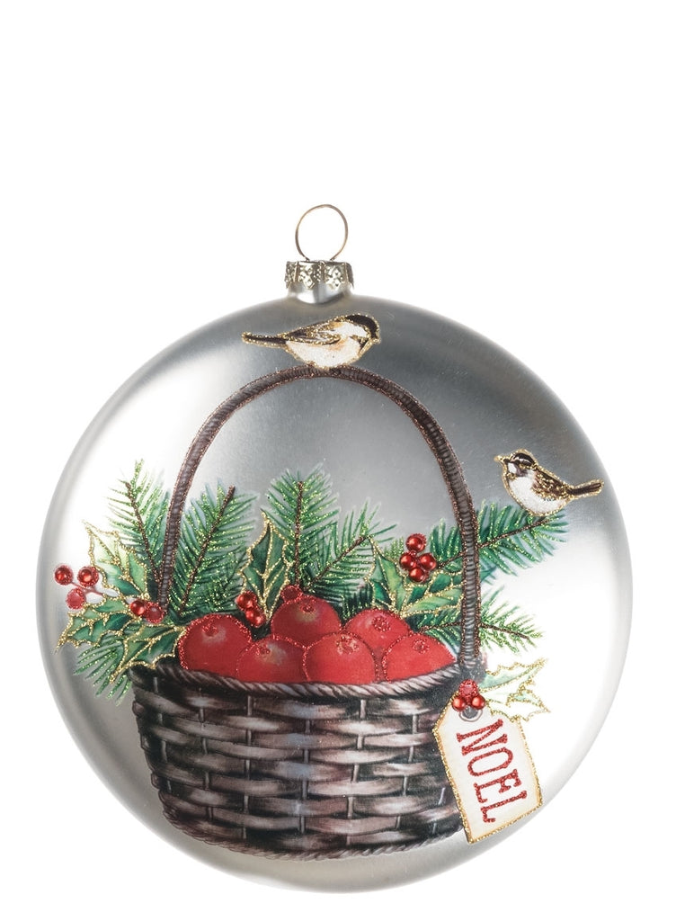 Christmas  Disc Ornament - APPLE BASKET