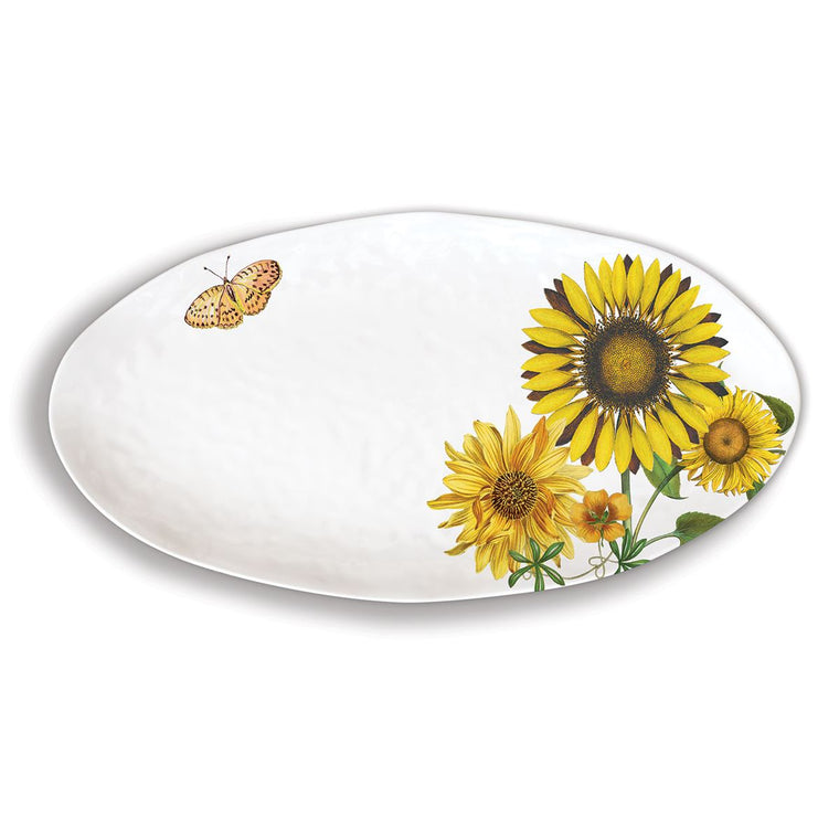 Platter Sunflower Oval Melamine