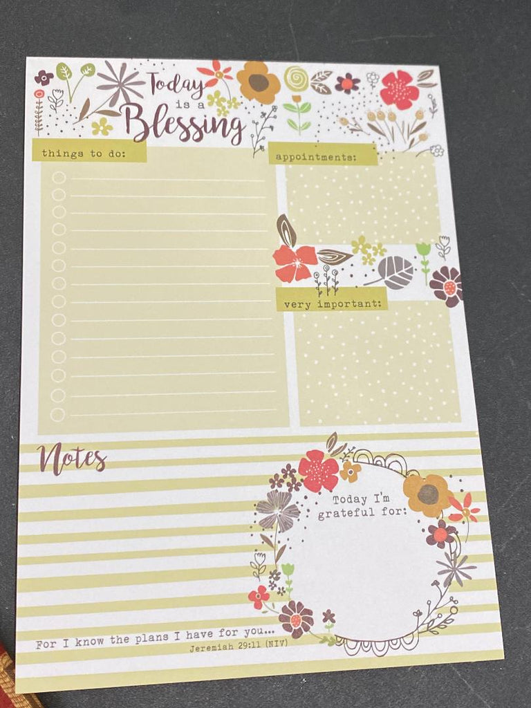 Daily Planner Pad - Today is a Blesssing
