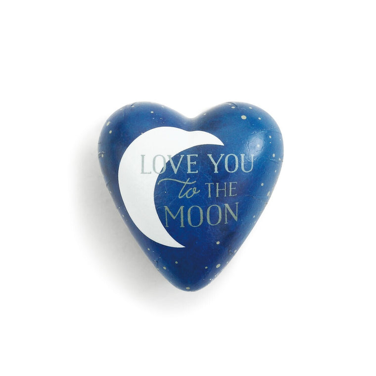 Love You to the Moon Art Heart Token