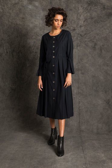 Laitan Pleated Coat Dress