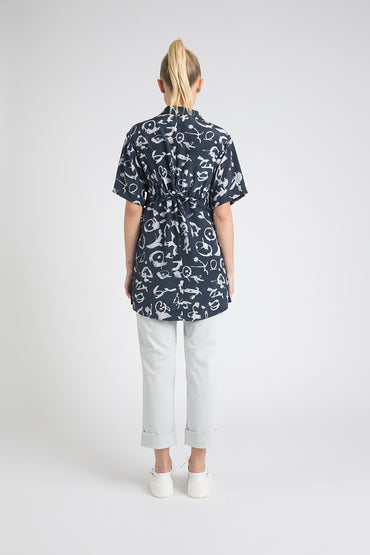 Margaux Shirt Printed Silk