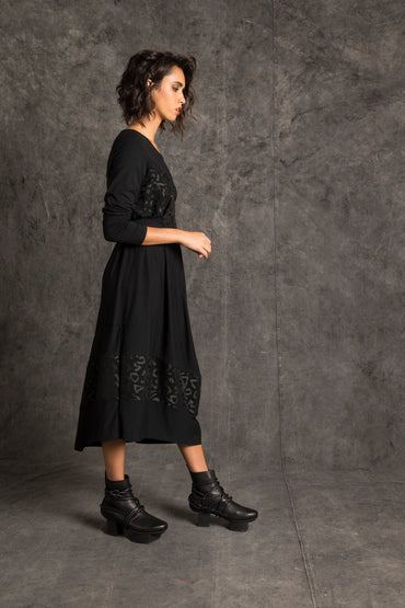 Fantan Spliced Dress