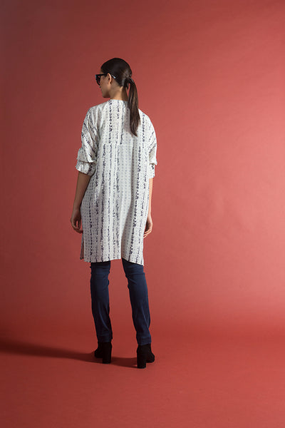 Furoshiki Shirtdress Printed Silk