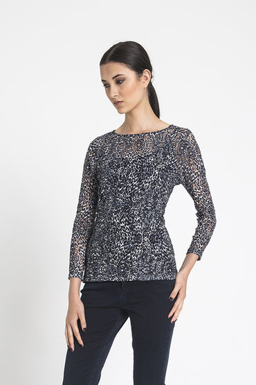 Boat neck top ¾ sls Lace