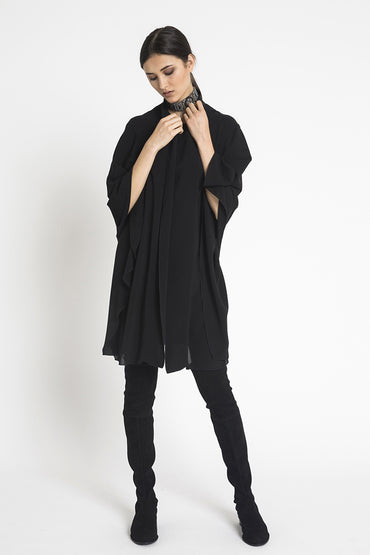 Karenina Cape Coat Georgette