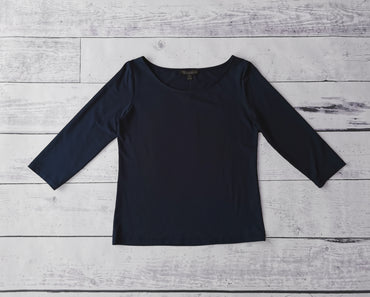 3/4 Sleeve Tee Plain Knit