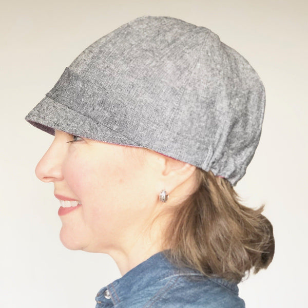linen blend summer hat women