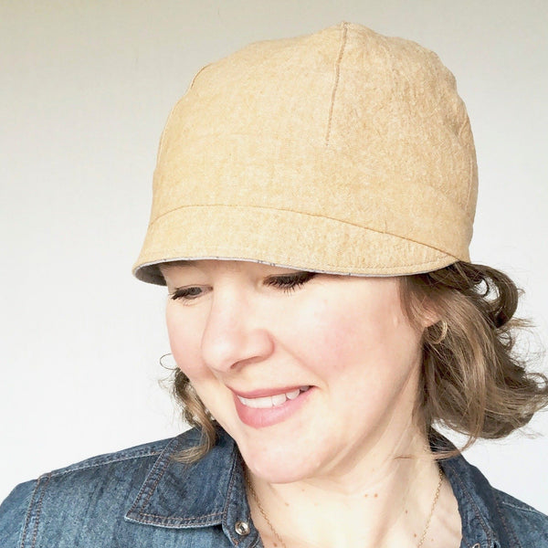 reversible cloche hat for women