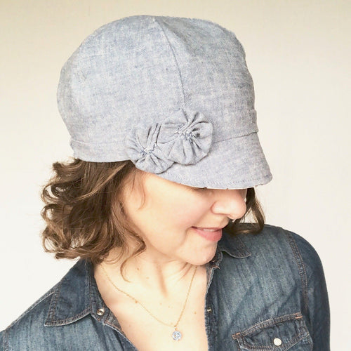 Women's Spring Newsboy Hat, Cute Spring Hat for Women, Cute Baby Blue Hat