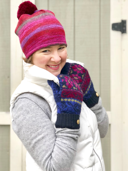 Fireside Winter Pom Pom Hat for Women