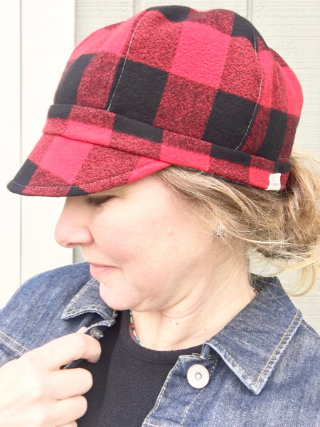 Buffalo Print Cap for Women, Handmade Custom Hat