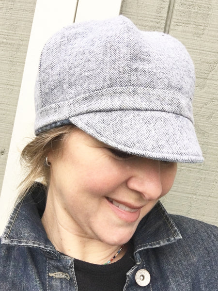 Custom Cap for Women, Handmade Custom Hat, Newsboy Hat