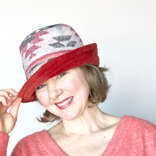 Winter Wide Brim Hat, Corduroy Hat for Women