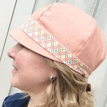 Handmade Spring Patches Hat // Reversible // Rose
