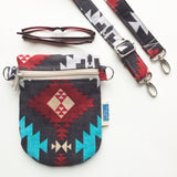 Mobile Phone Crossbody Bag // The HIP Mini // Tribal Print
