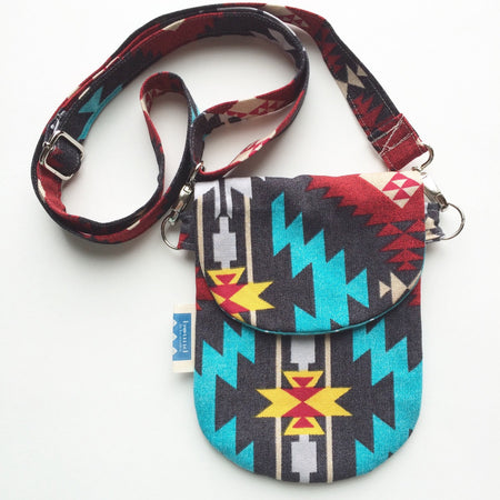 Cell Phone Bag // The HIP Mini // Aztec Blue