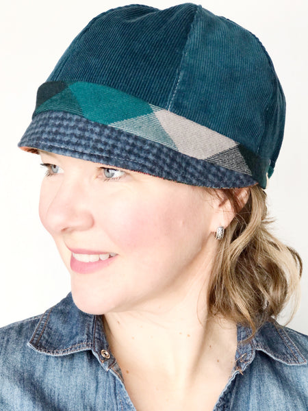 Patches Hat, OOAK Cap for Women, Medium, Cute Hat for Women, Ready to Ship, M118