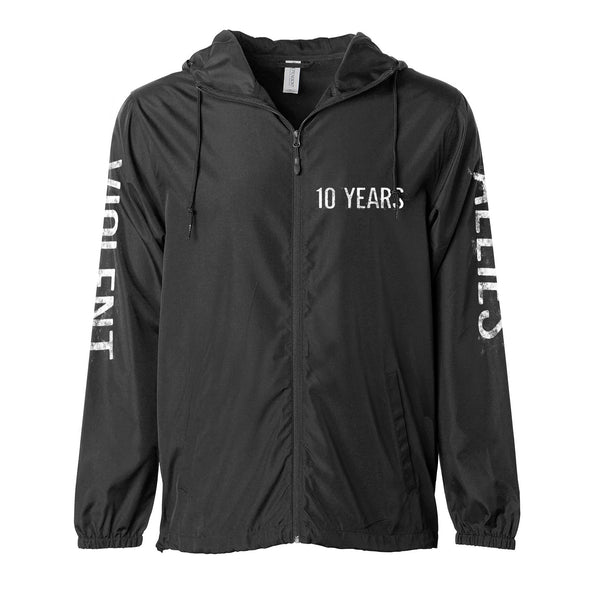 "10 Years ""Violent Allies"" Hooded Windbreaker"
