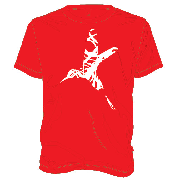 10 Years Hummingbird Shirt in Red
