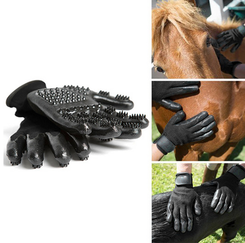 GROOMING GLOVE - Magic Touch - Shedding, Bathing, Grooming, De-Shedding Horses/Dogs/Cats/Livestock/Small Pets