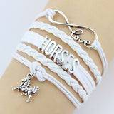 LIMITED EDITION - Love Horses Infinity Charm Bracelet - 5 Colors