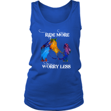 RIDE MORE - WORRY LESS- LADIES COTTON TANK