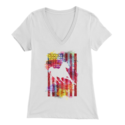 AMERICAN HORSEWOMAN - LADIES V-NECK