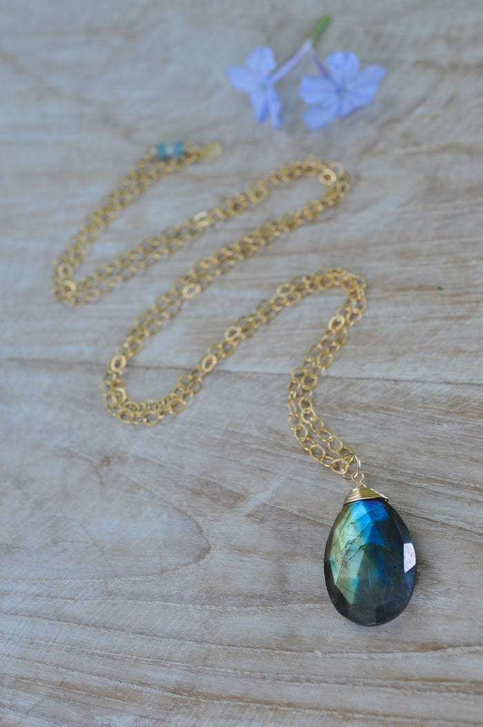 Signature Gem Drop Necklace