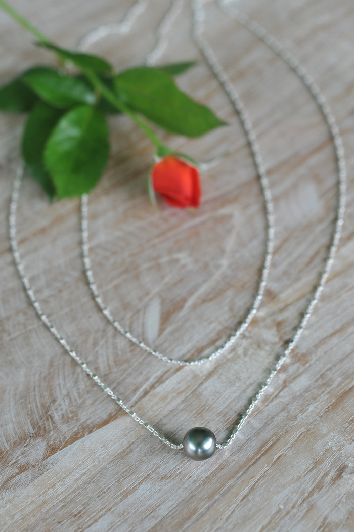 Double Wrap Tahitian Pearl Necklace