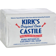 Kirk's Natural Castile Soap Original - 4 oz Each / Pack of 3