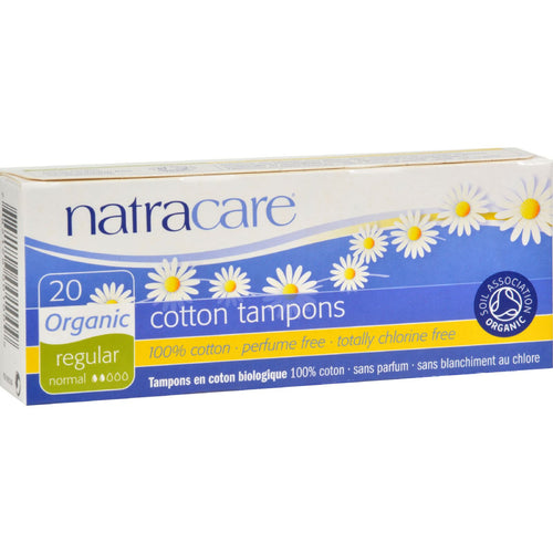 Natracare 100% Organic Cotton Tampons Regular - 20 Tampons