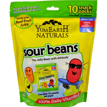 Yummy Earth Naturals Sour Jelly Beans Snack Packs - 10 Packs