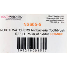 Mouth Watchers Toothbrush Refill - A B - Adult - Orange - 1 Count - Case of 5