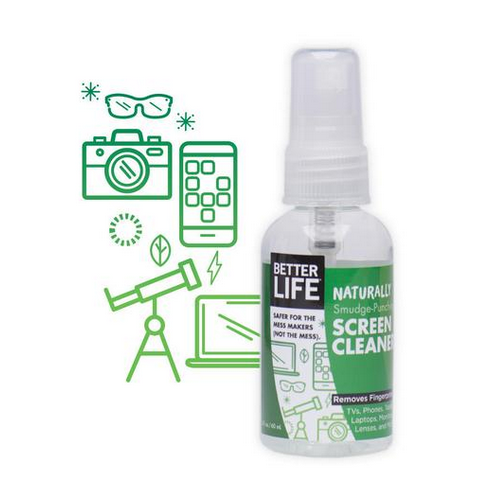 Better Life Screen Cleaner - Naturally Smudge - Punching - Case of 24 - 2 oz.