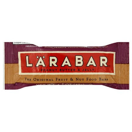LaraBar - Peanut Butter and Jelly - Case of 16 - 1.6 oz