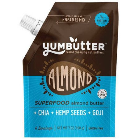 Yumbutter Superfood - Almond Butter - Case of 6 - 7 oz.